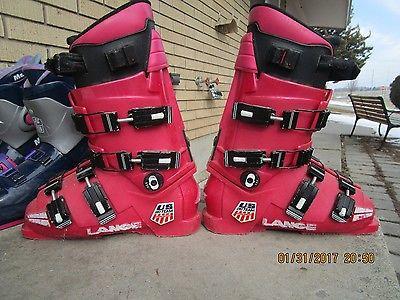 LANGE 305mm XRI team downhill ski boots mens used  VERY NICE  ITALY 26 26.5