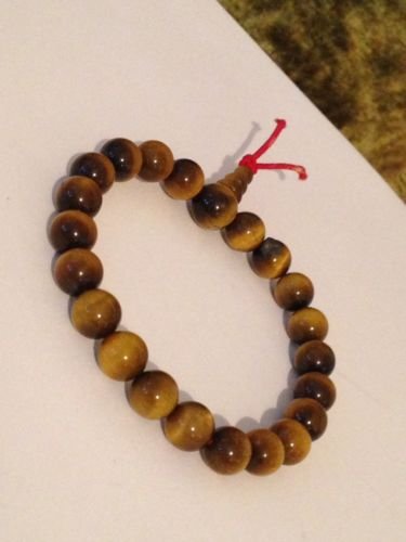 Natural Tigers Eye Semi Precious 8 Mm Stone Bracelet #C9