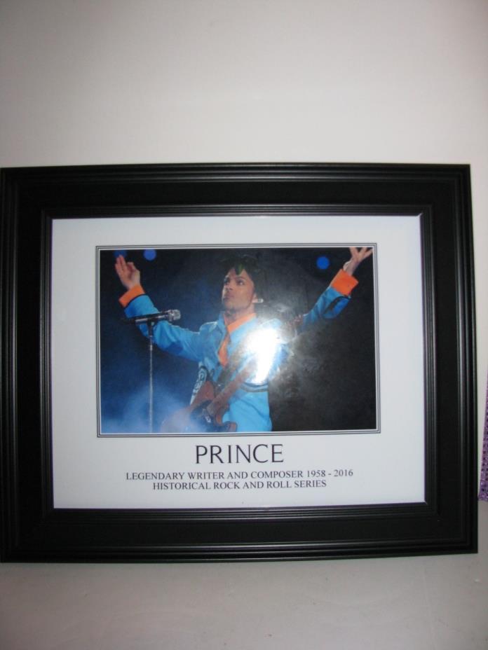 PRINCE 1958-2016, Framed Print, Frame is new, never hung,17 1/2