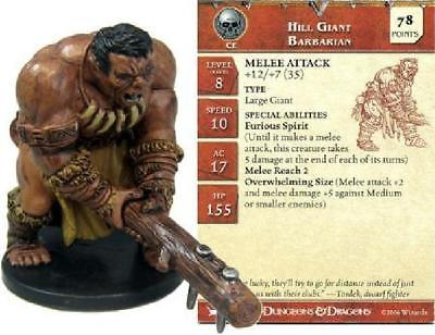 Hill Giant Barbarian #49 War Drums D&D Miniatures DDM NM D&D Miniatures