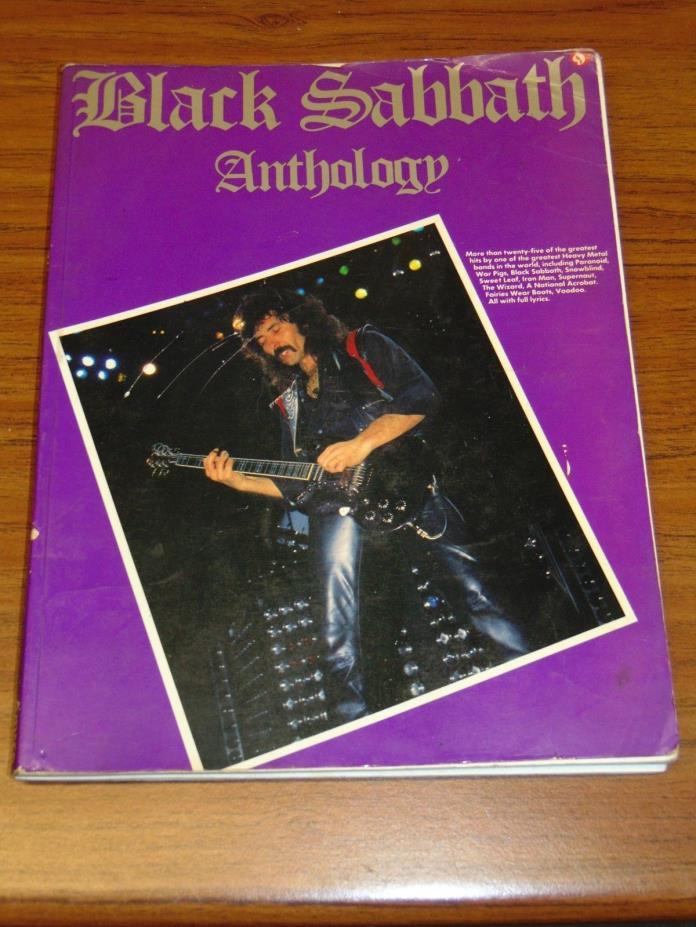 Black Sabbath Anthology guitar tablature songbook