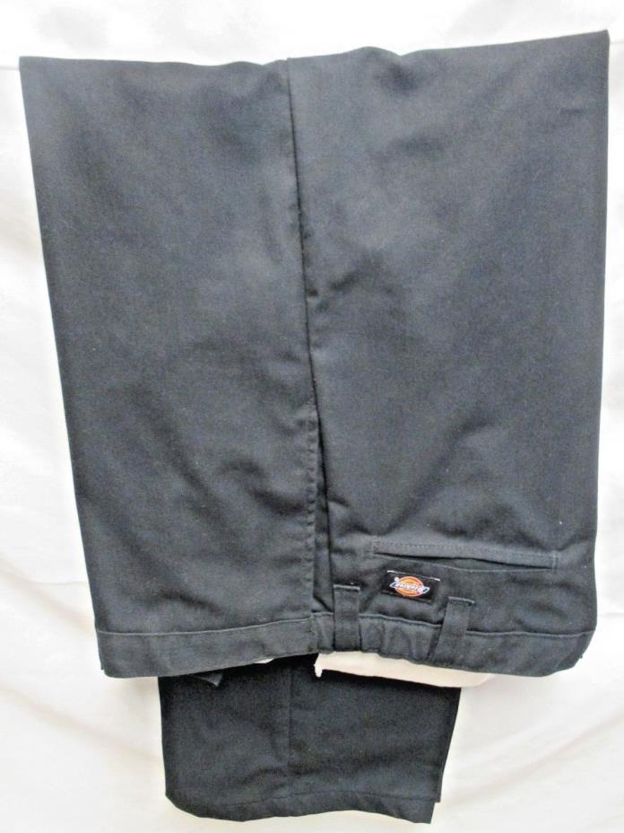 Dickies Occupational Wear Pants 38 X 32  Black Adjustable Waist New