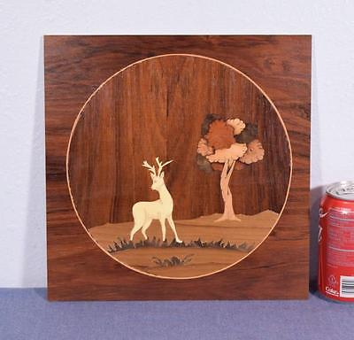 *Inlaid Marquetry Panel with Hunting Deer/Buck Scene 4