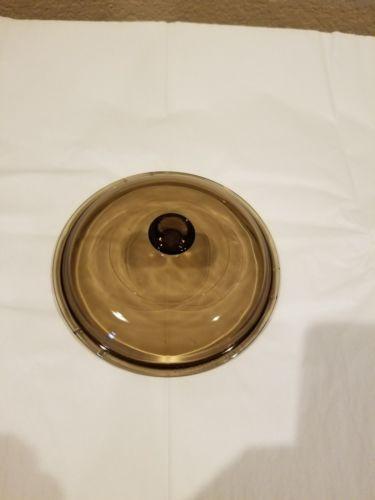Pyrex Visions Lid Model V1.5C Amber Fits 1.5 Quart or 1.5 Liter Sauce Pan Pot