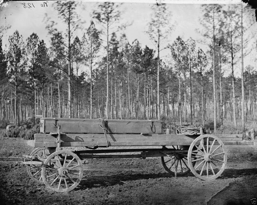 Union Pontoon Wagon 50th NY Eng. Rappahannock, VA - 8x10 Civil War Photo 1864