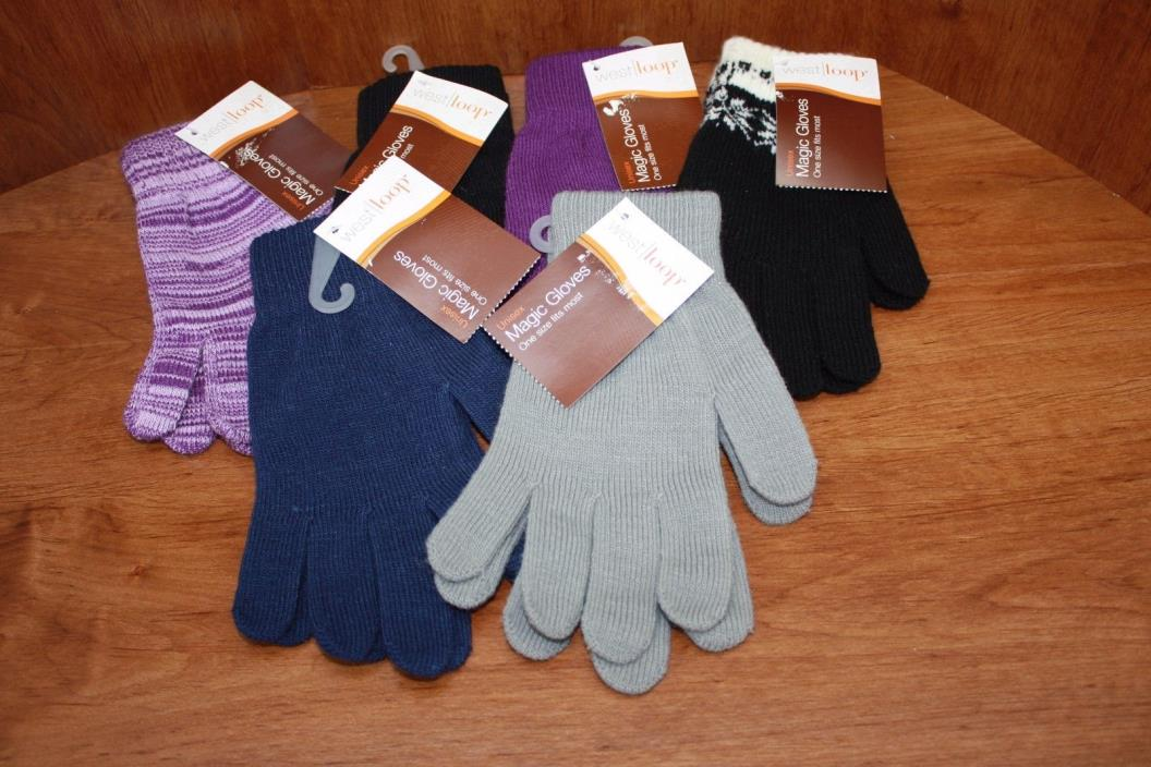 West Loop Magic Gloves Stretch Unisex 2 Pair