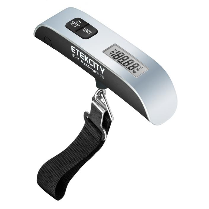 Digital Luggage Scale Hand Grip LCD Display Overload Indicator New Free Shipping