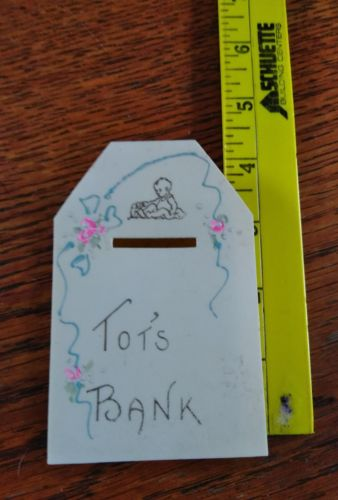 vintage baby's first bank plastic