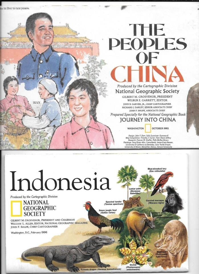 NATIONAL GEOGRAPHIC MAPS- 6 ( ASIA )