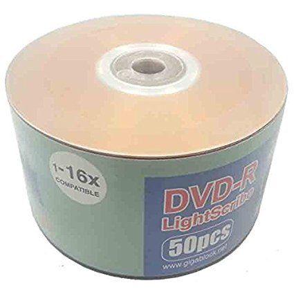 50pc Gigablock LightScribe DVD-R 16x LS Printable Blank Media New
