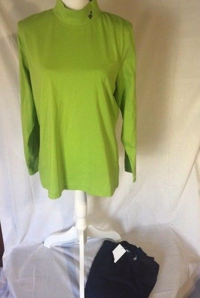 Girl Scouts Of America Mock Neck Long Sleeve Tee Lot Of 2 Size XL NWT