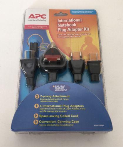 APC 2-Prong International Notebook Plug Adapter Kit