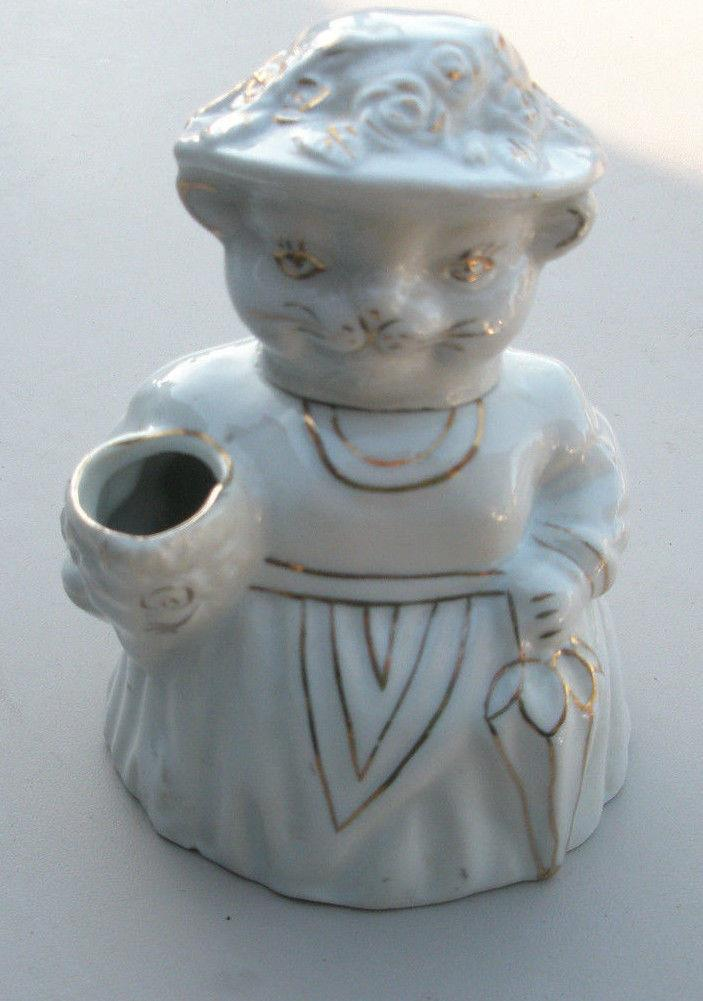 Small White Cat Pitcher
