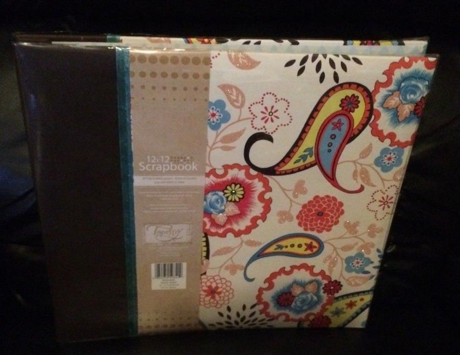 New 12x12 Paisley Splash Scrapbook Album