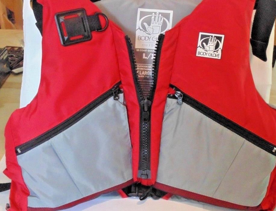 Body Glove Type III PFD Vest Large/X-Large for Kayaking, Sailing, Fishing (Red,