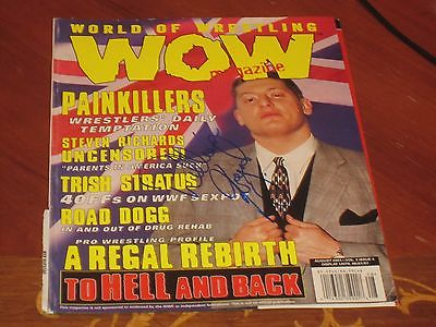 William Regal Autographed Wrestling Cover Page