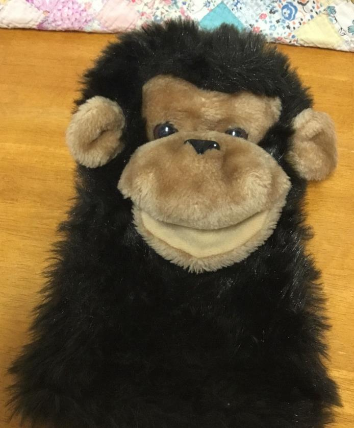Dakin Hand Puppet Gorilla Monkey Plush Stuffed Animal 1980 Vintage 11