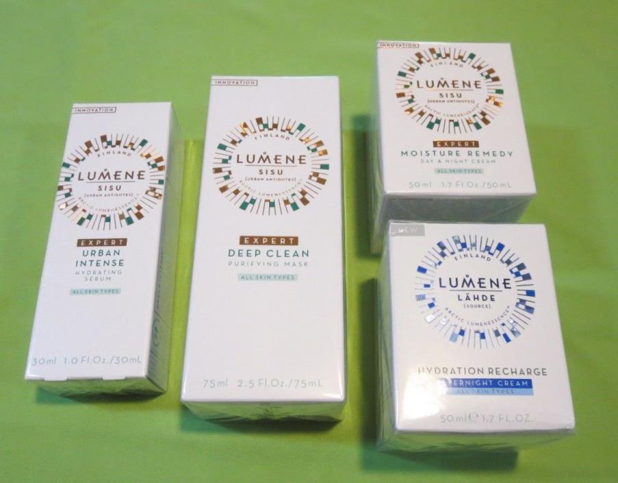 Lumene Skincare Lot urban intense Hydrating Serum - Deap Clean Purifying Mask