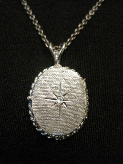 Vintage Sterling Silver Locket Pendant 18