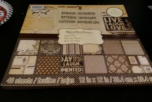 Recollections Scrapbook Paper 48 Pages Travel - Always Remember