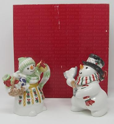 Fitz and Floyd The Flurries Sugar & Creamer in Original Box
