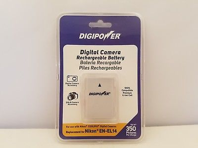 DIGIPOWER Digital Camera Rechargable Battery for Nikon EN-EL14 | WBP-NKL14 | NEW