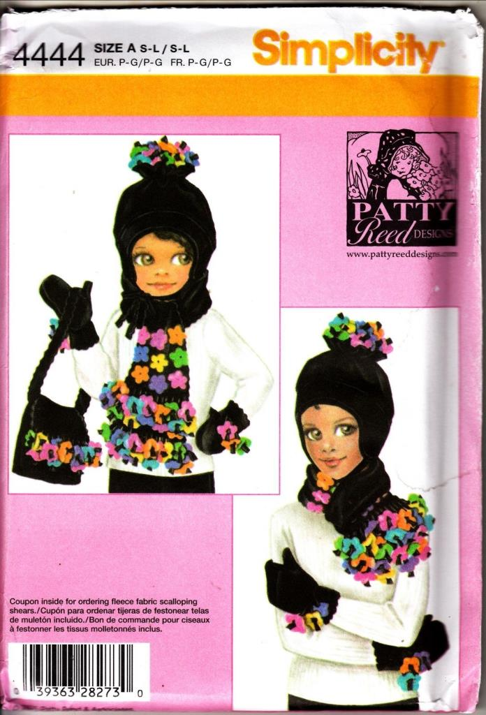 Simplicity 4444 Child's & Misses HAT,  MITTENS, SCARF, BAG Sewing PATTERN
