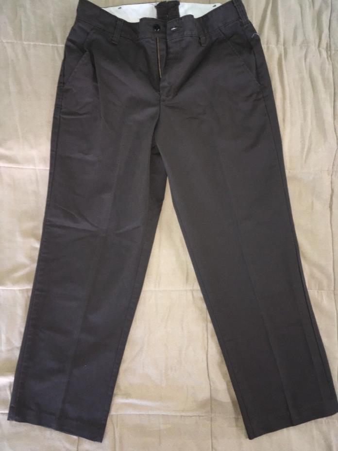 Red Kap Mens' Stain Resistant, Flat Front work Pants - Brown 32x30