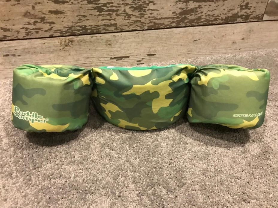 Puddle Jumper Life Jacket Safety Camouflage Gree New 30-50lbs Swimming Arm Bands
