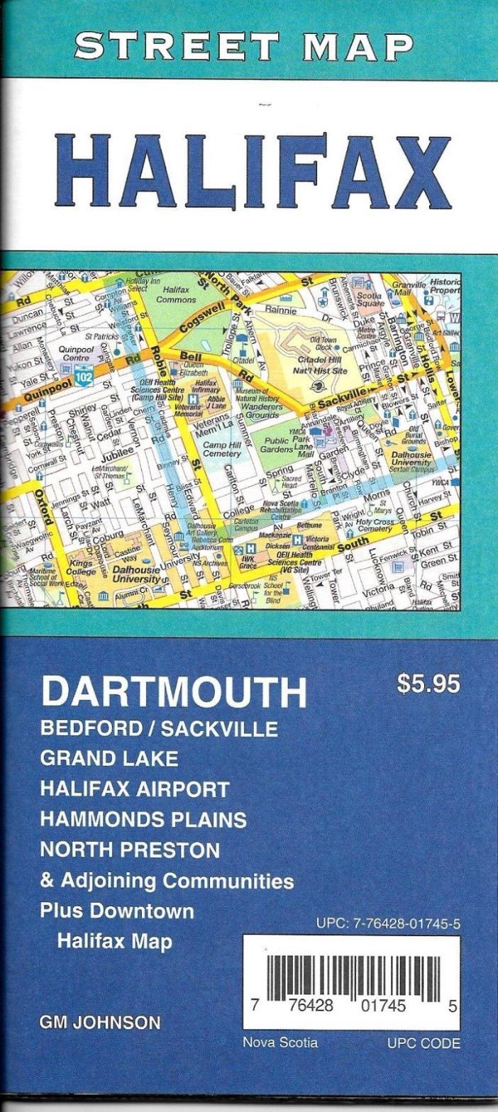 Street Map of Halifax, Nova Scotia, Canada, by GMJ Maps