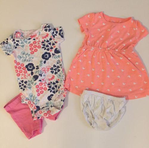 Shirt Outfit Shorts Bundle Dress Orange Shorts Bloomer White Pink 9 9m 6 6m