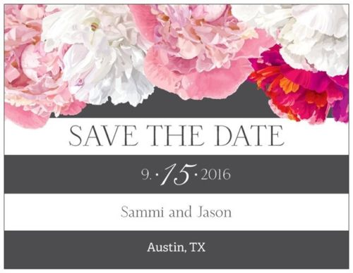 Save the Date Party Custom Horizontal Flat 5.5