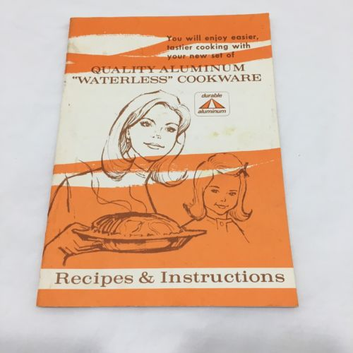 Vintage Regal Waterless Cookware Booklet Instructions And Recipes Booklet Only