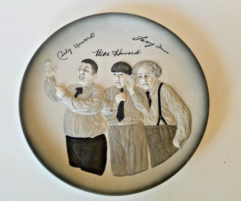 Three Stooges Great Entertainer Series Collector Plate First Edition Plate