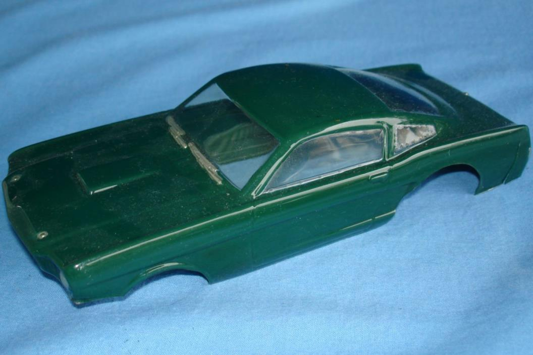 VINTAGE 1:24 SCALE SLOT CAR RACING PAINTED CLEAR BODY FORD MUSTANG FASTBACK