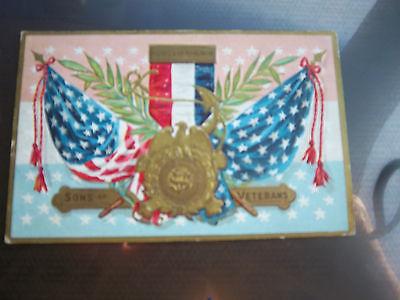 Sons of Veterans civil war patriotic circa 1900 vintage postcard