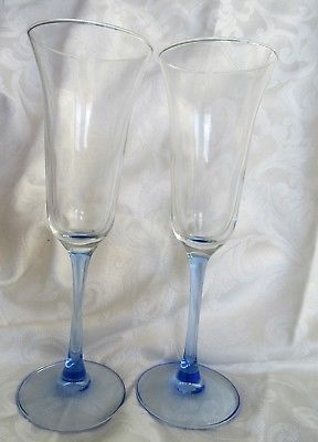 2 wedding toasting flute glasses - 8 12