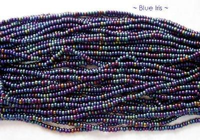 Czech Seed Beads Size 10/0  Blue Iris 1 Hank