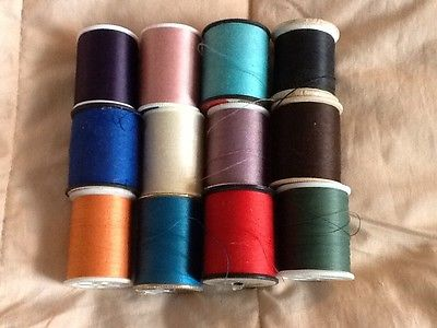 12 Spools Assorted Sewing Thread  -  Thread Set  2ASew
