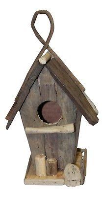 Natural Finish Driftwood Backyard Bird House 9 Inches