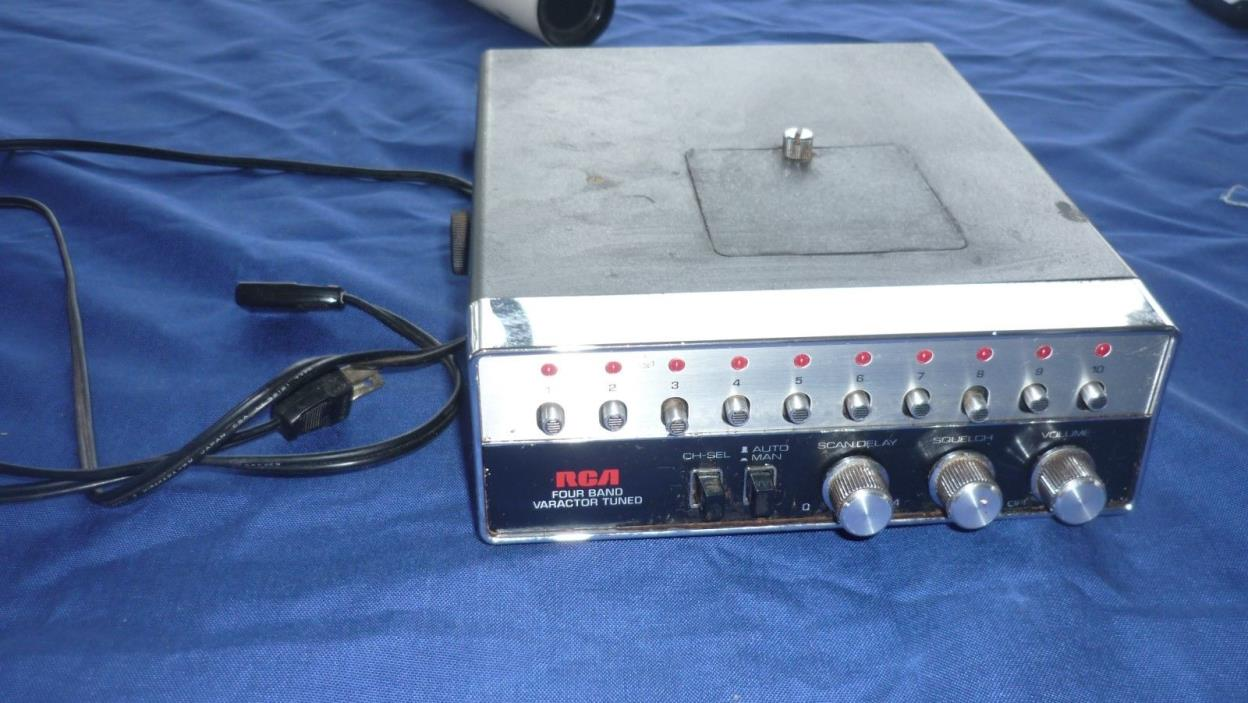 RCA Scanner Model 16S400 Four Band 10 Channels Japan Varactor Tuned