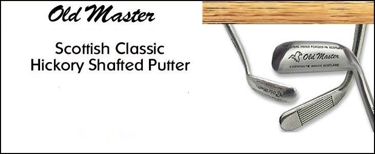GOLF TOURNAMENT GIFTS - 4 OLD MASTER SCOTTISH CLASSIC HICKORY SHAFTED PUTTERS