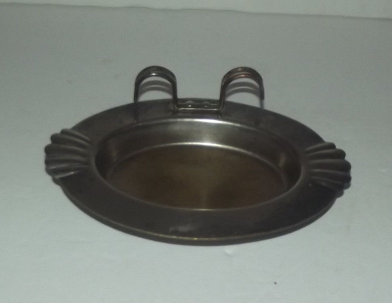 ODD VINTAGE METAL TRAY WITH HOLDER - KITCHEN TABLE CRUMB TRAY ?