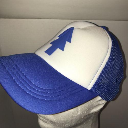 New Dipper Gravity Falls Cartoon BLUE PINE TREE Hat Snapback Trucker Cap 1 Size