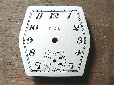 New Old Stock Vintage Elgin 6 Sided Dial For 1930's 4/0 Wristwatch Movements