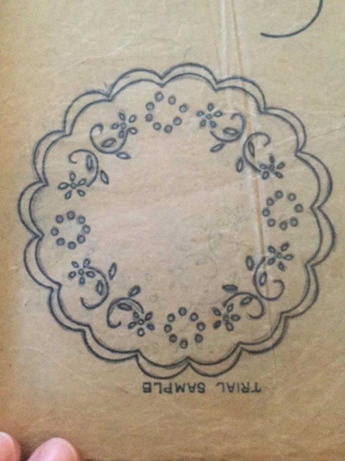 Vintage Transfer for Hand Embroidery Flowers for Doily Pillowcases Dresses