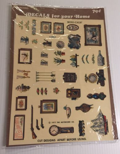 Vintage Meyercord Decals For Your Home 1199-C Mini-Cals Sealed Package