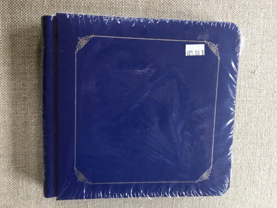 New! Sealed! Creative Memories 7x7 blue & sliver scrapbook photo album w pages