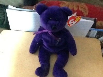 Princess Diana Limited Edition Purple Beannie Bear  TY