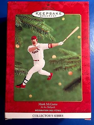 MARK MCGWIRE ATTHE BALLPARK BASEBALL #5 2000 HALLMARK KEEPSAKE ORNAMENT  NRFB
